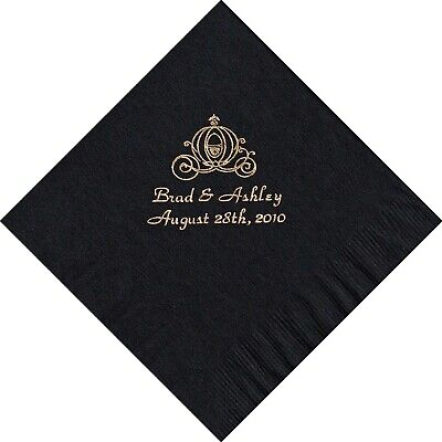 PERSONALIZED luncheon  NAPKINS WEDDING  done in 24 hour