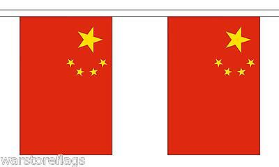 CHINA FLAG BUNTING 9 metres 30 flags CHINESE PARTY