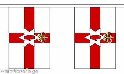 NORTHERN IRELAND BUNTING 9 metres 30 flags UK BRITAIN