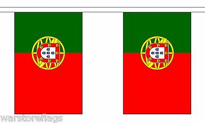 PORTUGAL FLAG BUNTING 9 metres 30 flags PORTO EUROPE