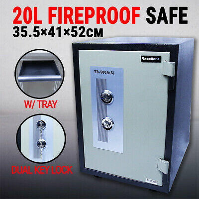 Safe Fireproof Double Key Lock w Inner Tray YB500AS, Security Sentry Home Office