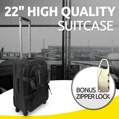 22 inch  Brand New Suitcase Travel Luggage with Zipper Lock