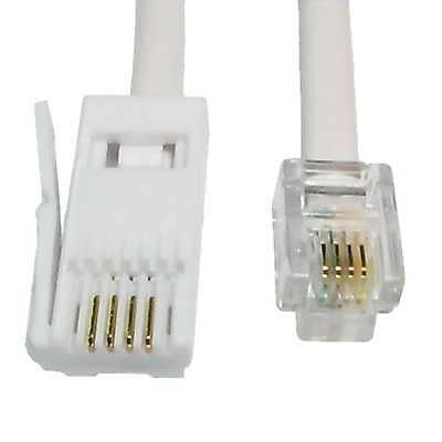 5m BT to RJ11 4 Pin Crossover Telephone Modem Cable Lead