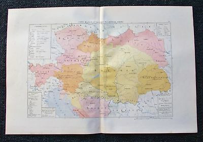 1881 MARGA Military & Political Map of Austria, Hungary