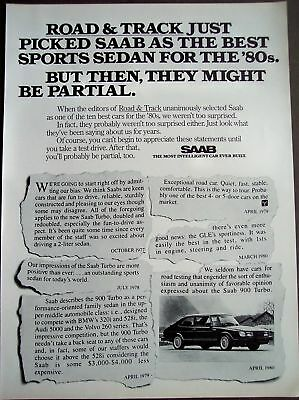 SAAB 900 TURBO sports sedan vintage 1981 CAR Ad