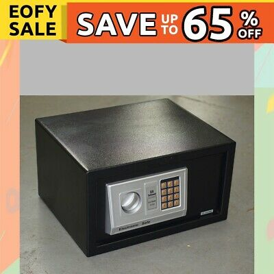 Digital Safe with Key EA23, Double locking bolts, Home Hotel Security Box, New
