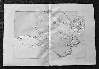 1881 MARGA Rare Military Map: Isle of Wight, England...