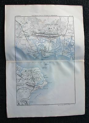 1881 MARGA Military Map Portsmouth Spithead Sandown Bay