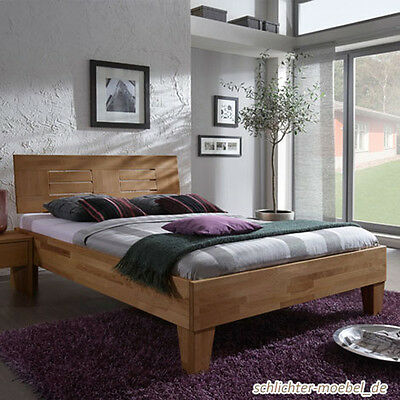 wood massivholzbett holzbett doppelbett bett holz kernbuche massiv 120x200 eur 529 00. Black Bedroom Furniture Sets. Home Design Ideas