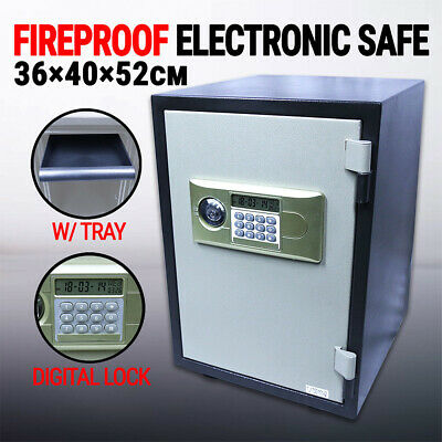 Fireproof Steel Digital Safe w key & battery YB-500ALD