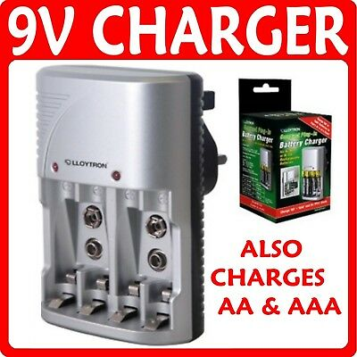 NEW Lloytron Mains Battery Charger for AA AAA or 9V PP3