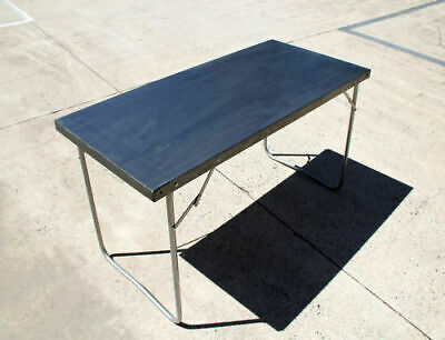 Steel Zinc Plated One Piece Top Camping Folding Table