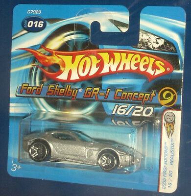 2005 Hot Wheels First Edition Ford Shelby GR-1 Concept #16 short card silver