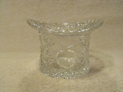 Daisy And Buttons Clear Glass Top Hat Vase Holder