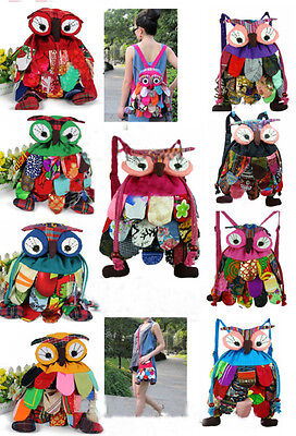 Wholesale10pcs Chinese Hademade Vintage Ethnic Retro Owl Handbags Pouch Backpack