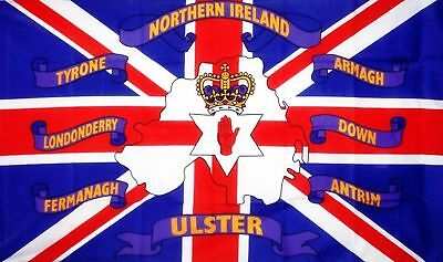 Northern Ireland 6 Counties 5X3 Flag Ulster Tyrone Down