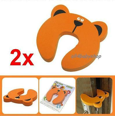 2Pcs Baby Toddler Safety Form Door Jammer Jammers Finger Guard