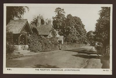 Leicestershire WOODHOUSE Fountain RP PPC