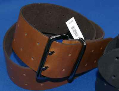2 3/8'' Inch 60 mm Real Leather Fashion Belt Brown limited Edition Hand Made