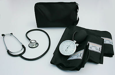 Blood Pressure Sphygmomanometer and Black Stethoscope