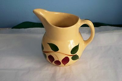 Vintage Watt Pottery 15 Pitcher Teardrop Redbud Series
