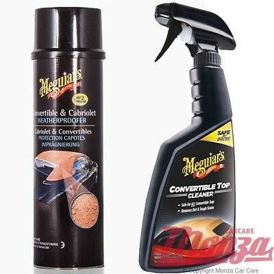 NEW!! Meguiars Convertible / Fabric Soft Top Car Hood Cleaner & Waterproof Kit