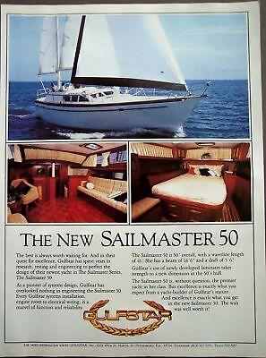 1983 Sailmaster 50 Yacht by Gulfstar vintage boat ad