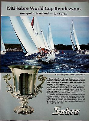 Sabre World Cup Rendezvous vintage 1983 boat ad