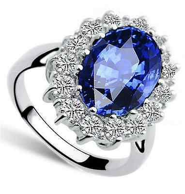 Lady Diana's Ring Verlobungsring Kate William royal blau silber-farbig