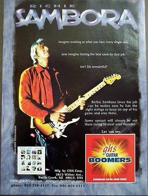 2001 Richie Samora GHS guitar strings vintage ad