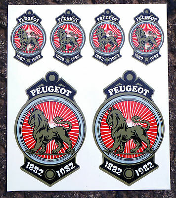 Peugeot Crest 100 years Vintage Cycle Decals Stickers