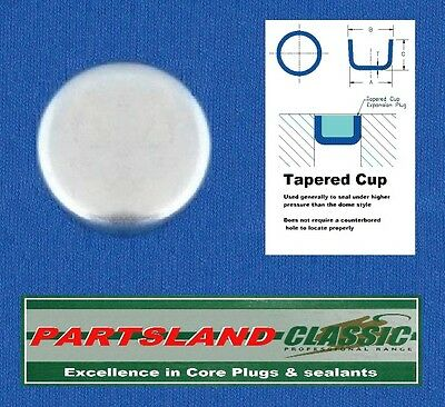 """Freeze Cup Core Plug Plated 1.03125"""" 1.1/32"""" 26mm through to 1.500"""" 1.1/2"""" 38mm"""