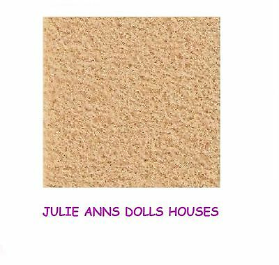 "Dolls House Beige Carpet,19"" X 13"", Self Adhesive Miniature Carpet, 12 Th Scale"