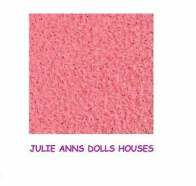 "Dolls House Pink Carpet,19"" X 13"", Self Adhesive, Miniature Carpet, 12 Th Scale"