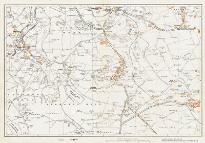 Oxenhope & Denholme Yorkshire 1938 Old Map 21 - Repro