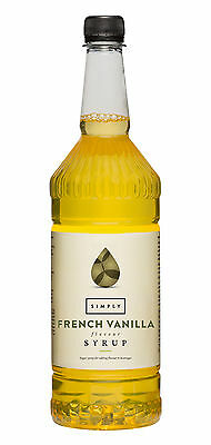 Simply Luxury Natural Sirup French Vanilla 1L, Bourbon Vanille, Kaffeearoma, UK