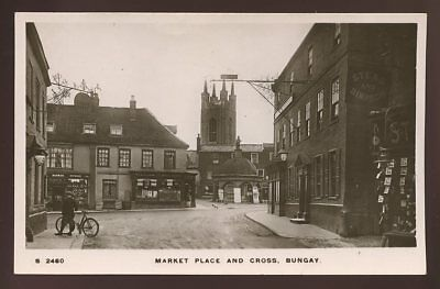 Suffolk BUNGAY Market Place and Cross early RP PPC