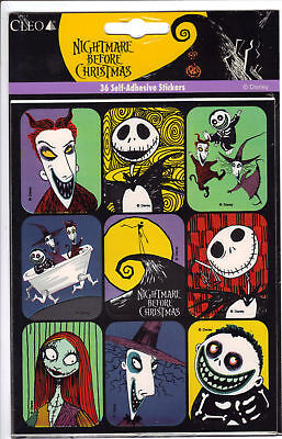 Nightmare Before Christmas sealed pack of 36 stickers