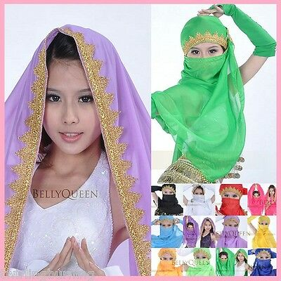 Bollywood Belly Dance Veil Head Scarf Indian Costume AA23