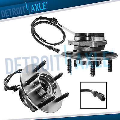 2 Front Wheel Bearing & Hub for 2000 2001 2002 2003 Ford F-150 -14mm 4WD ABS
