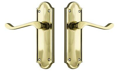 DOOR LEVER-BEDFORD-POLISHED FORGED BRASS-PERIOD VICTORIAN or french provincial