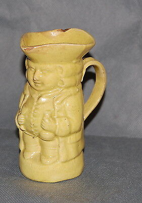 Antique English Yellow Glazed Creamware Toby Jug