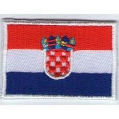 écusson ECUSSON PATCHE PATCH THERMOCOLLANT DRAPEAU CROATIE DIMENSIONS 4,5 X 3 CM