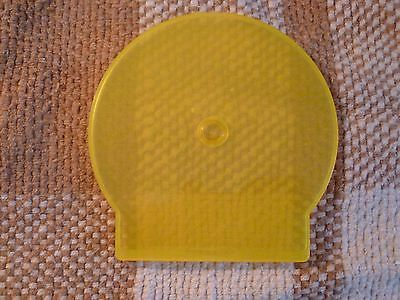 10 Pack Slim Yellow C Shell Clam Case CD DVD Jewel Cases see through Poly