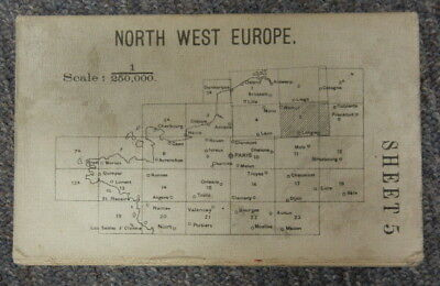 Vintage Ww1 British Army Map - Northwest Europe Sheet 5