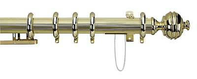 Reeded Royal Orb 38mm Extendable Corded Curtain Poles