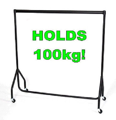 Heavy Duty TALLER Clothes Rail 6ft Long 7ft High STRONG