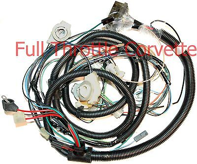 1981 Corvette Forward Lamp Wiring Harness Without Factory Tape Player Option