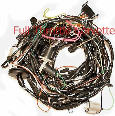 1975 Corvette Rear Body Wiring Harness With Seatbelt Interlock System