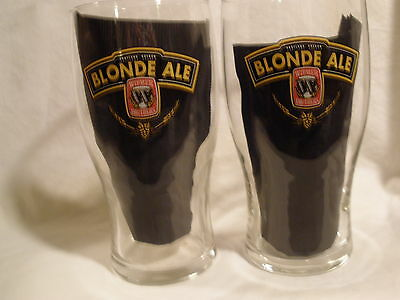 WIDMER BLONDE ALE BEER PINT GLASSES (SET OF 2)